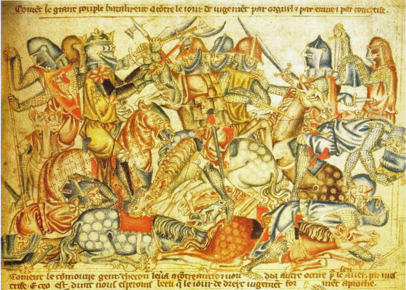 BannockburnBattle from Holkham Bible